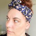 Camo Style Boho Wire Headband, Wire Headscarf, Twist Headband