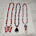 3 Brand New Handmade Gemstone Pendant Necklaces $25 Each