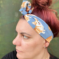 Corgi Boho Wire Headband, Wire Headscarf, Twist Headband
