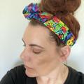 Wire Head Wrap, Headband, Headwrap, Dolly Bow, Wired Scarf, Bow, Twist, Bandana,