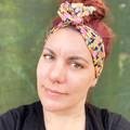 Oriental inspired Boho Wire Headband, Wire Headscarf, Twist Headband