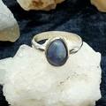 Sterling Silver Lightning Ridge Opal Ring