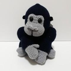 Gorilla, monkey, nursery, Crochet, baby, gift, toy, amigurumi