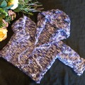 Toddler knitted hooded jacket