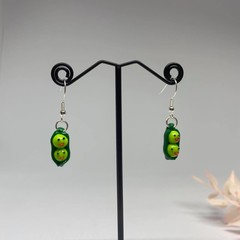 """Peas in a Pod"" Handmade Drop Earrings"