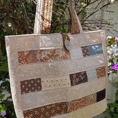 Huge  beige/ brown tote/shopping bag.