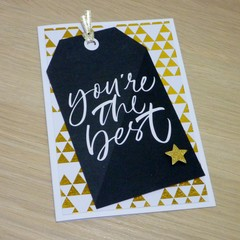 You're the best - thank you card