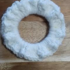 Marshmallow Crochet Hair Scrunchie
