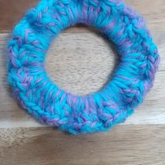 Galaxy Crochet Hair Scrunchie