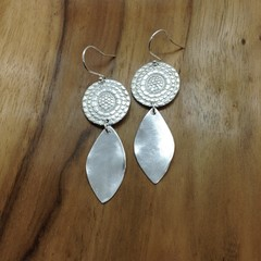 Recycled Silver double-drop Earrings