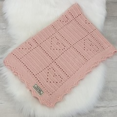 Baby Blanket - Pure Australian Alpaca Wool - Handmade Crochet