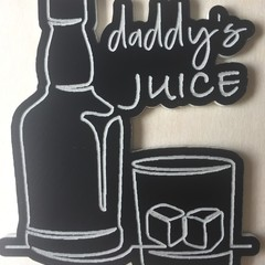 Humorous Fridge Magnet - 'Daddy's Juice ...'