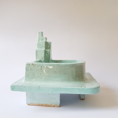 Pastel Teal Art Deco inspired Trinket Dish