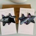 Purple Gradient Star Handmade Polymer Clay Studs