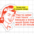 Humorous Fridge Magnet - 'They're called man hours ...'
