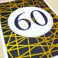 Age Birthday card - black and gold - any age!