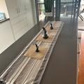 NEW Table Runner Square Weave Natural 150cm long $36.00