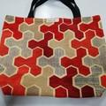 Supermarket Shopping Bag - Red Geometric