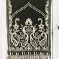 Paisley Unique Design Wool Jacquard Shawl with Fringe by Sen Saish #29
