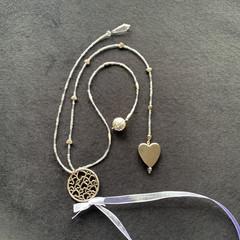 Beading wedding keepsake - silver