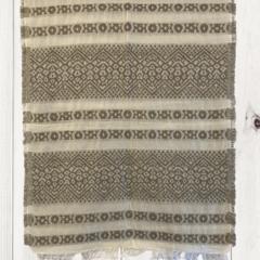 Geometric Unique Design Wool Jacquard Shawl with Fringe by Sen Saish #23