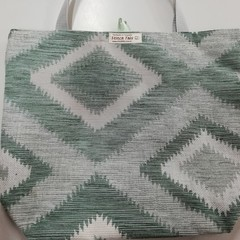 Supermarket Shopping Bag - Green Diamond