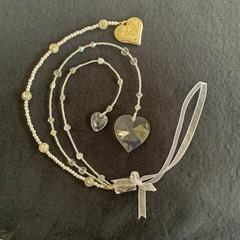 Beaded wedding keepsake - crystal
