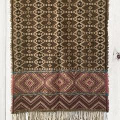 Geometric Unique Design Wool Jacquard Shawl with Fringe by Sen Saish #28