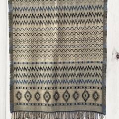 Geometric Unique Design Wool Jacquard Shawl with Fringe by Sen Saish #30