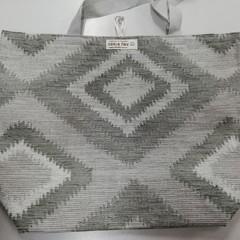 Supermarket Shopping Bag - Grey Diamond