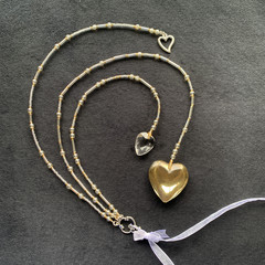 Beaded wedding keepsake - gold