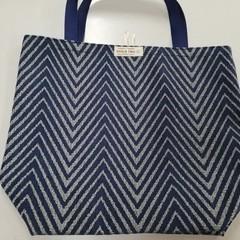 Supermarket Shopping Bag - Blue Diagonal