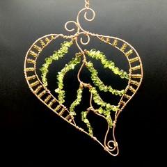 Glass Beaded Leaf No. 2
