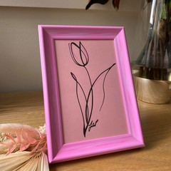 """Single Pink Tulip"" Framed Artwork"