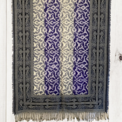 Cotton with Wool Jacquard Border Unique Design Shawl by Sen Saish #21