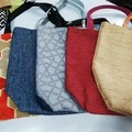 Supermarket Shopping Bag - Denim Texture