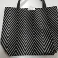 Supermarket Shopping Bag - Black Diagonal