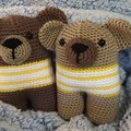 Teddy Bear Softies, Handmade Crochet Teddies, Teddy Amigurumi, Soft Teddies