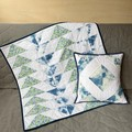 Fine Rain on Flowers - Quilt & Cushion Cover Set