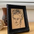 """""""Frida Kahlo Reigns"""" Framed Line Drawing Artwork"""