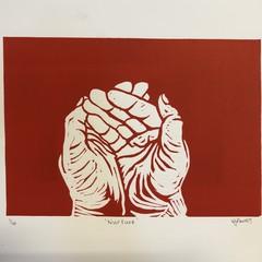 Nurture  Hand printed Lino print