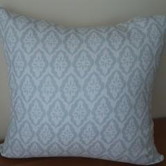 Aqua and White Hamptons Cushion Cover