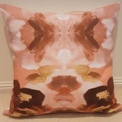 Terracotta, Apricot & Cream Cushion Cover