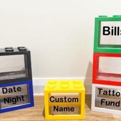Lego Block Money Box, Personalised, Custom