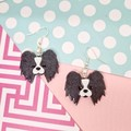 Papillon Continental Toy Spaniel Dog Resin Earrings Jewellery