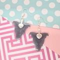 Miniature Foxie / Jack Russell Terrier / Tenterfield Terrier Dog Resin Earrings