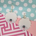 English Sheepdog Dog Resin Earrings Jewellery