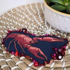Lobster Fabric Brooch