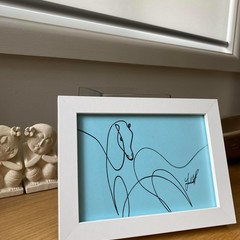 """Galloping Horse"" Framed Line Drawing"
