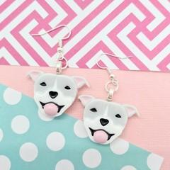 Staffordshire Bull Terrier staffy dog Resin Earrings Jewellery